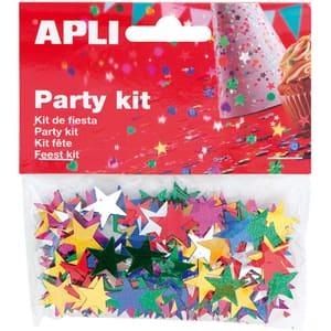 Confeti APLI AL013821, 15 mm, diverse culori