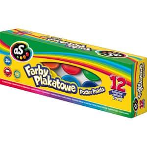 Tempera ASTRA scolara, 20 ml, 12 culori