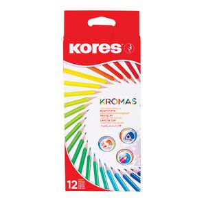 Creioane colorate KORES Kromas, 12 culori