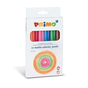 Creioane colorate Morocolor Jumbo Primo, 12 culori