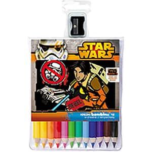 Creioane colorate STAR WARS Rebel UI000460, 12 culori + ascutitoare