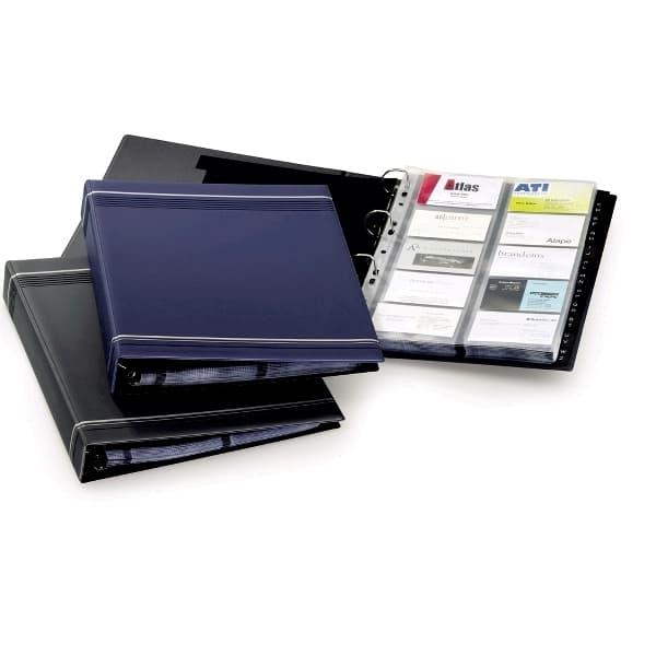 Clasor carti de vizita DURABLE Visifix 2388, A4, 20 file, albastru