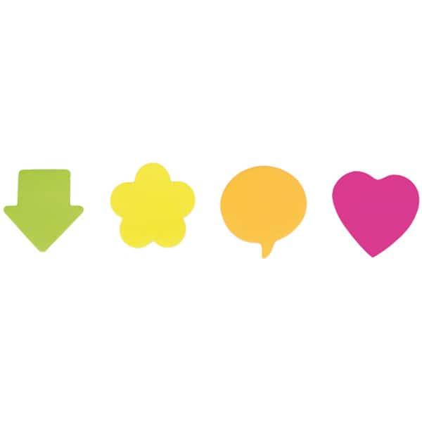 Notite adezive APLI AL017903, 75 file, 75 x 75mm, forma floare, diverse culori