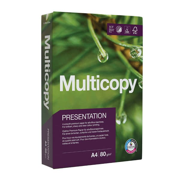 Hartie copiator MULTICOPY Presentation, A4, 500 coli