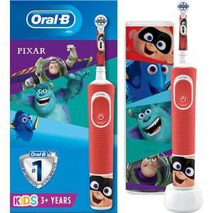 Periuta de dinti electrica ORAL-B Vitality Pixar, 7600 oscilatii/min, Curatare 2D, 2 programe, 1 capat, rosu