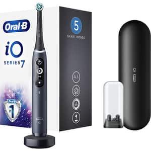 Periuta de dinti electrica ORAL-B iO 7, Bluetooth, Curatare 3D, 5 programe, 1 capat, negru