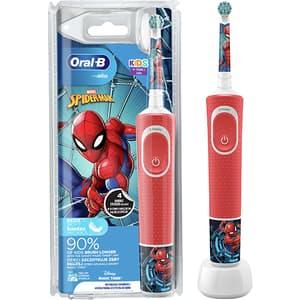 Periuta de dinti electrica ORAL-B Vitality Spiderman, pentru copii, 7600 oscilatii/min, 2 programe, 1 capat, rosu