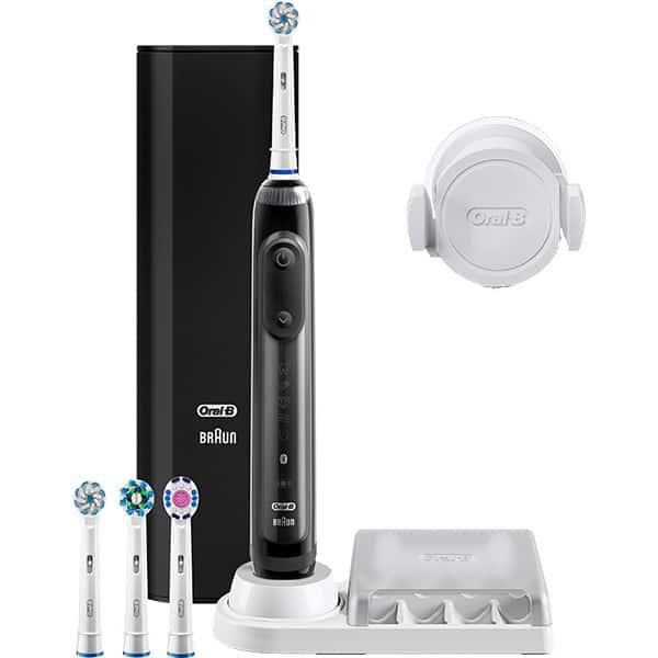 Periuta de dinti electrica ORAL-B Genius 10, Bluetooth, 6 programe, 40.000 pulsatii/min, 4 capete, negru