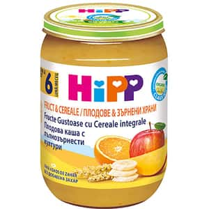 Piure HIPP cu cereale integrale si fructe 1323, 6 luni+, 190g