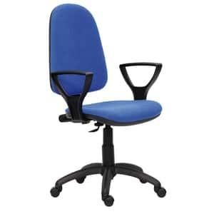 Scaun birou operational DANIELA, stofa, albastru