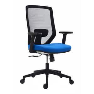 Scaun birou operational RTC Zen, textil, negru , albastru