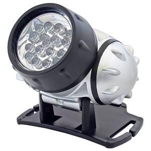 Lanterna frontala cu LED-uri HOME PLF 19, 19 LED-uri, negru-gri