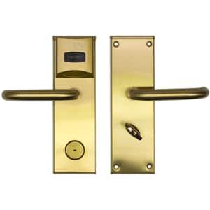 Yala control acces hotelier PNI CH2000L, cu cititor de card, deschidere stanga, auriu