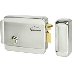 Yala electromagnetica SILVERCLOUD YL500 cu butuc, deschidere stanga, Fail Secure NO, argintiu