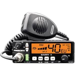 Statie radio CB PRESIDENT Barry II, 4W, ASQ reglabil, AF-FM