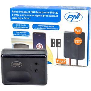 Releu smart PNI SmartHome RG120, Wi-Fi, deschidere usa garaj/poarta, monitorizare prin Tuya Smart App