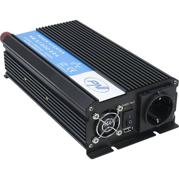 Invertor de tensiune PNI H1200W, 1200W, 24V DC