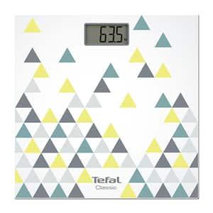 Cantar de persoane TEFAL Classic PP1145V0, electronic, 160kg, sticla, multicolor