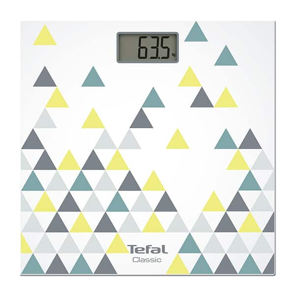 Cantar corporal TEFAL Classic PP1145V0, 160kg, electronic, sticla, multicolor