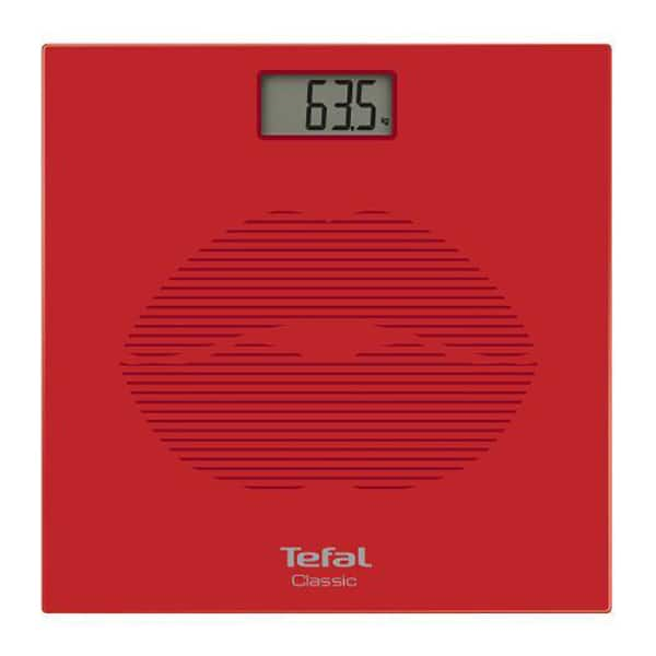 Cantar corporal TEFAL Classic PP1149V0, 160kg, electronic, sticla, rosu