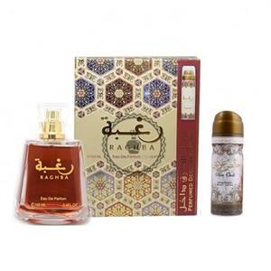 Set cadou LATTAFA PERFUMES Raghba: Apa de parfum, 100ml + Deodorant spray, 50ml
