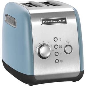 Prajitor paine KITCHENAID 5KMT221EVB, 2 felii, 1100W, albastru-argintiu
