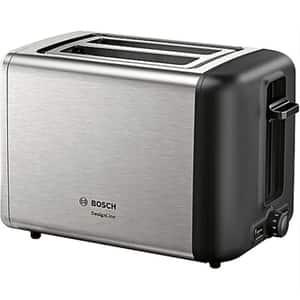 Prajitor paine BOSCH CompactLine TAT3P420, 2 felii, 970W, argintiu-negru
