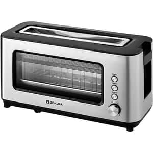 Prajitor paine ZOKURA Z1237, 2 felii, 1200W, argintiu-negru