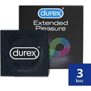 Prezervative DUREX Extended Pleasure, 3buc