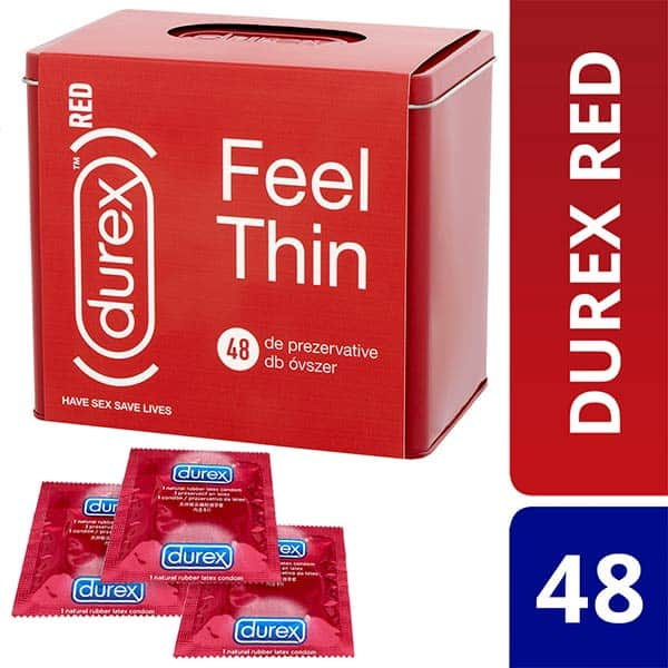 Prezervative DUREX Feel Thin Red, 48buc
