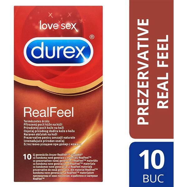 Prezervative DUREX Real Feel, 10buc