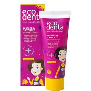 Pasta de dinti cu aroma de zmeura ECODENTA, 36 luni +, 75ml