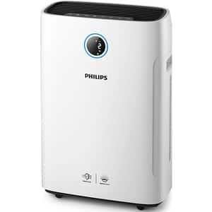 Combi 2 in 1 purificator si umidificator PHILIPS AC2729/50, 4 trepte viteza, HEPA, Wi-FI, alb-negru