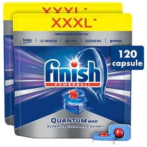 Pachet detergent de pentru masina de spalat vase FINISH Quantum Max, 120 tablete