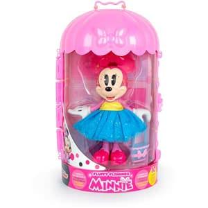 Papusa Minnie DISNEY Fluffy Flamingo 185944, 3 ani+, roz-albastru