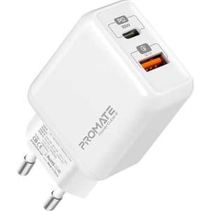 Incarcator retea PROMATE PowerCube-2, 1xType C, 18W, alb