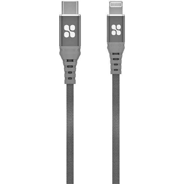 Cablu date PROMATE PowerCord-200, Type C - Lightning, 2m, gri