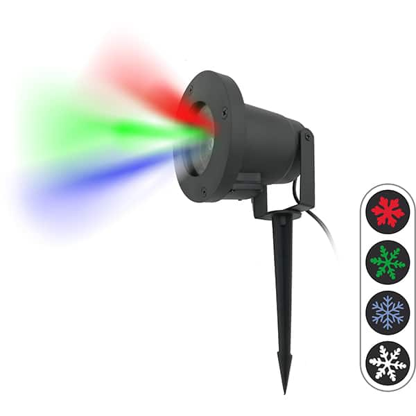 Proiector LED WELL PROJ-LED-RGBW4-WL, 3.6W, IP44, negru