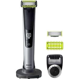 Aparat hibrid de barbierit si tuns barba PHILIPS OneBlade Pro Face & Body QP6620/20, acumulator, 90 min autonomie, negru-argintiu