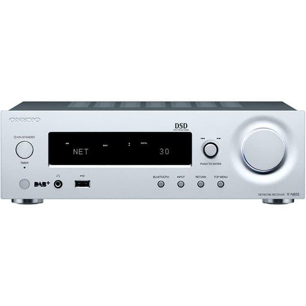 Network receiver stereo ONKYO R-N855-S, 140W, Bluetooth, Wi-Fi, argintiu