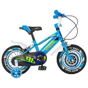 """Bicicleta baieti RICH R1407A, 14"""", albastru-verde"""