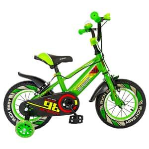 """Bicicleta baieti RICH R1407A, 14"""", verde-alb"""