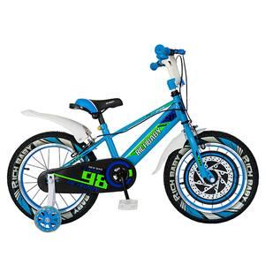 """Bicicleta baieti RICH R1807A, 18"""", albastru-albastru-alb"""