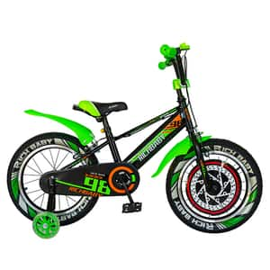 """Bicicleta baieti RICH R1807A, 18"""", negru-negru-verde"""