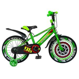 """Bicicleta baieti RICH R1807A, 18"""", verde-negru"""