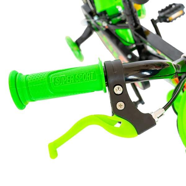 """Bicicleta baieti RICH R1407A, 14"""", negru-verde"""