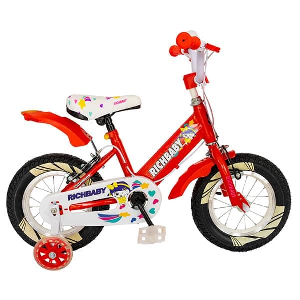 "Bicicleta fete RICH R1408A, 14"", rosu-alb"