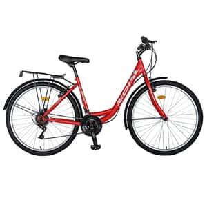 """Bicicleta City RICH R2632A, 26"""", cadru otel, rosu-alb"""