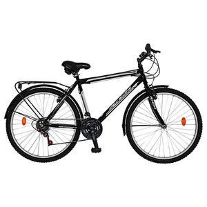 """Bicicleta City RICH R2635A, 26"""", cadru otel, negru-alb"""