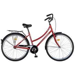 """Bicicleta City RICH R2892A, 28"""", cadru otel, rosu-alb"""